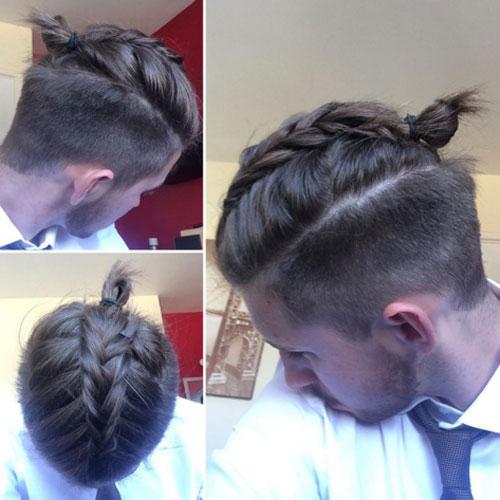 Trenzas modernas en pelo largo arriba y corto a los lados