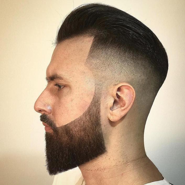 Barba delineada