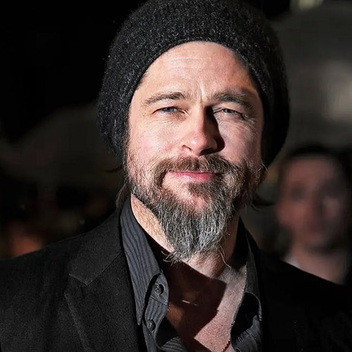 Brad Pitt con Barba Ducktail