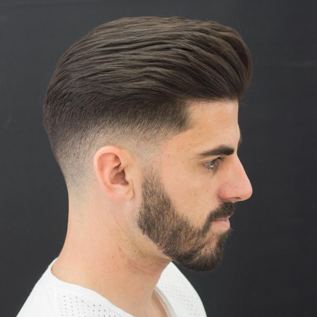Corte de Cabello con degradado y barba corta