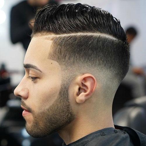 Corte de barba delineada