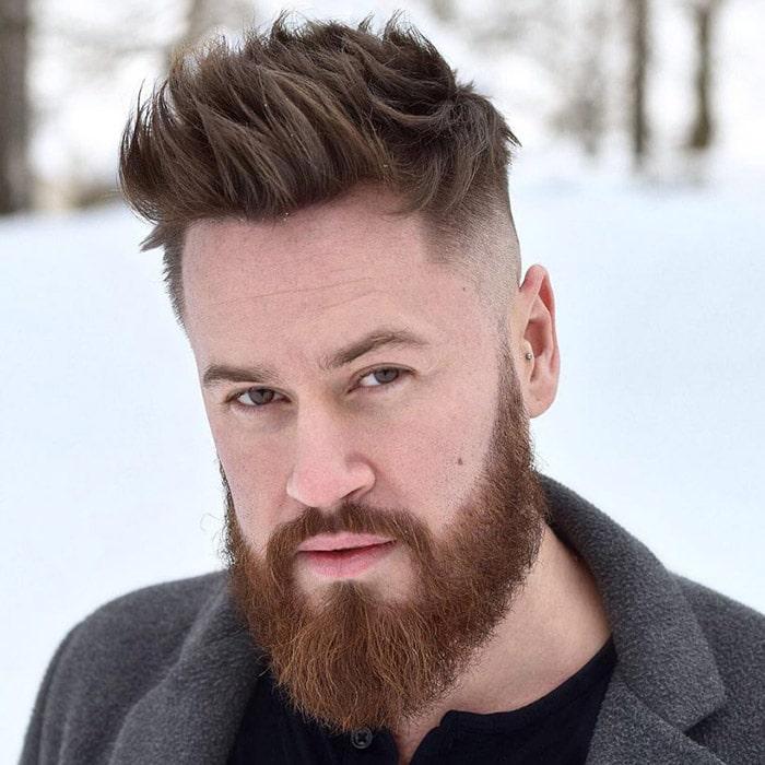 Corte de pelo 2020 hacia arriba con barba completa por iisakkinummi
