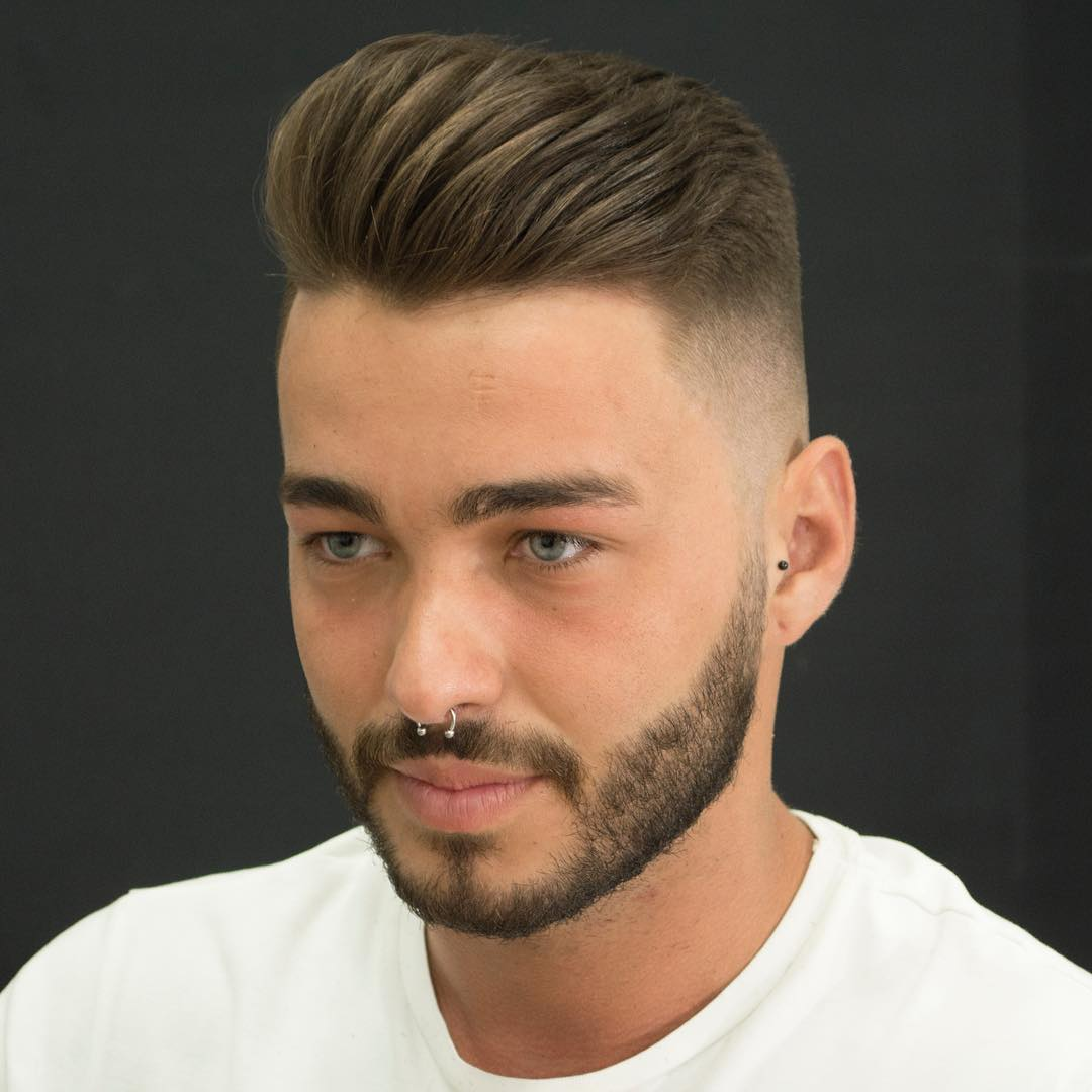 Corte de pelo con barba con degradado