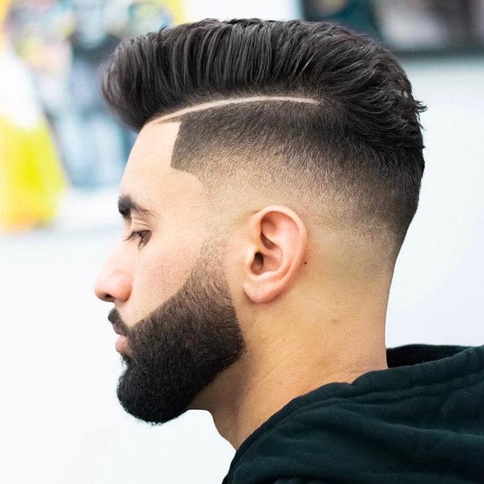 Corte de pelo con barba moderna degradado perfecto
