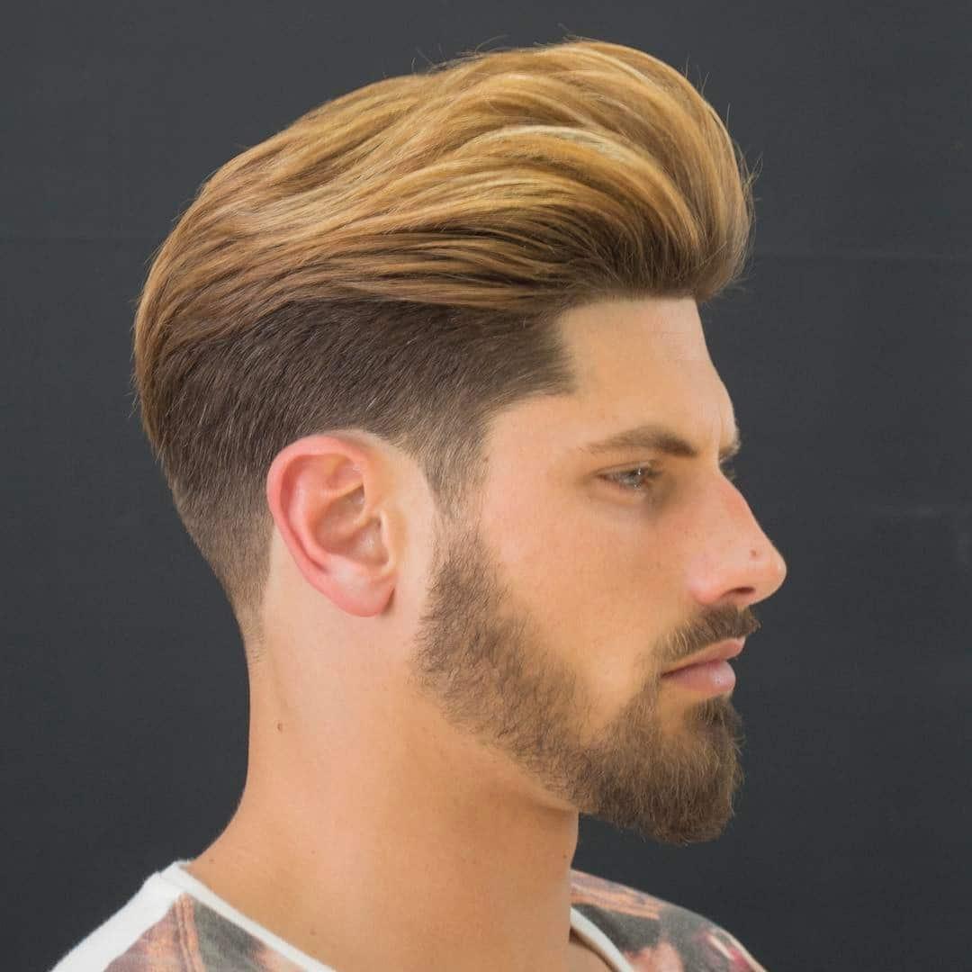 Corte de pelo con degradado y barba fina