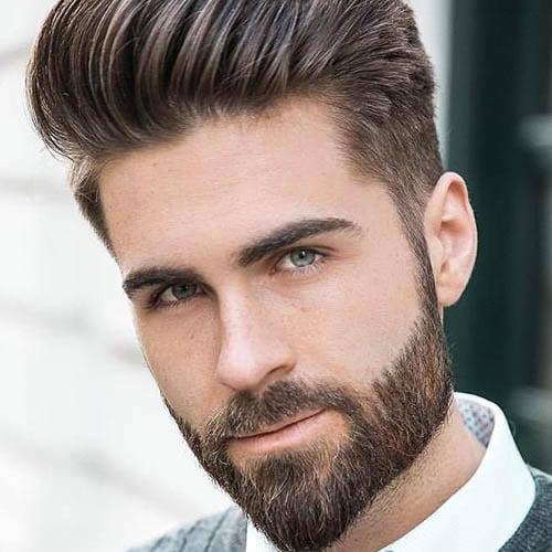 Hombre guapo con barba arreglada