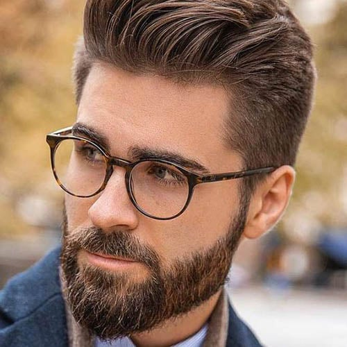 Hombre guapos y gafas bien peinados