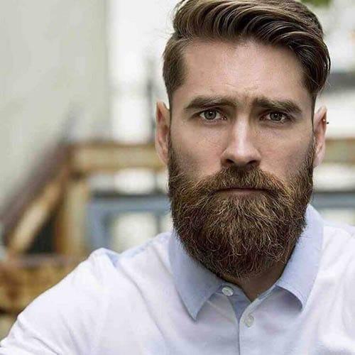 Hombre moderno y guapo con corte de pelo clasico