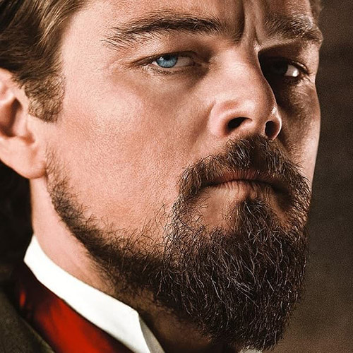 Leonardo Dicaprio Barba ducktail